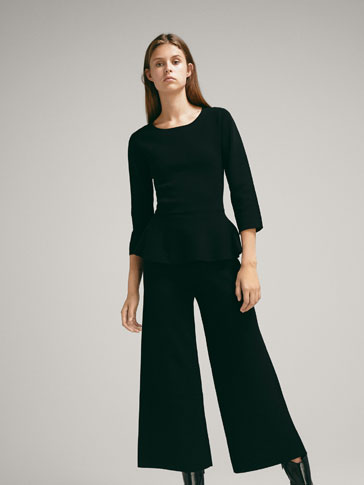CULOTTE FIT KNIT TROUSERS