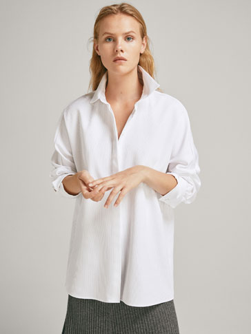TEXTURED COTTON OVERSHIRT