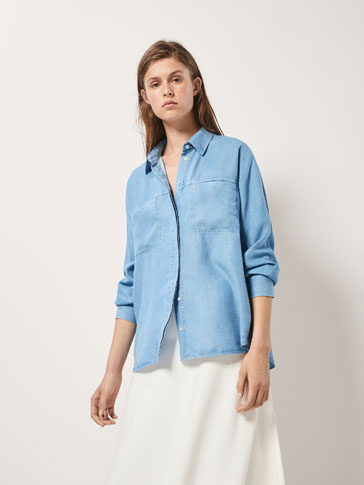 LYOCELL DENIM SHIRT WITH POCKETS