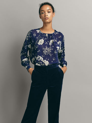 FLORAL PRINT BLOUSE WITH BUTTONS