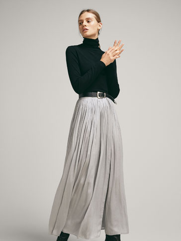 GATHERED WRAP SKIRT