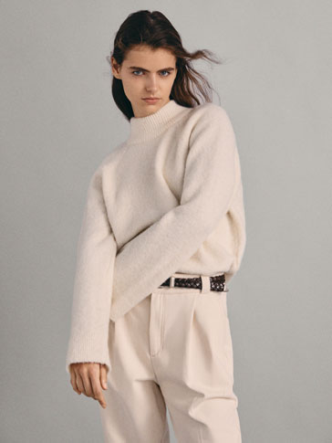 Cape Sweater With Back Pleat by Massimo Dutti