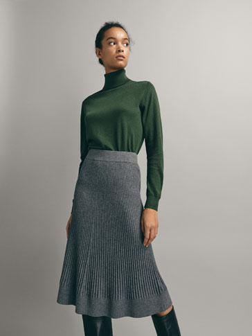 PLAIN SILK/WOOL SWEATER
