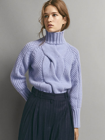 LIMITED EDITION CABLE-KNIT FRONT SWEATER