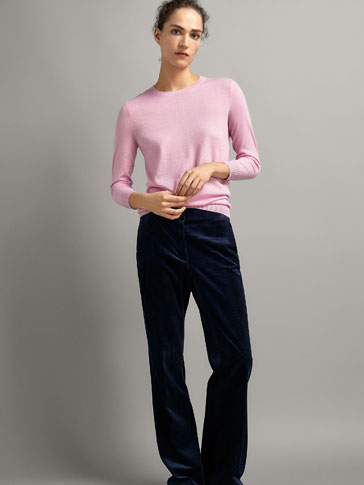 100% CASHMERE ROUND NECK SWEATER