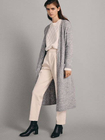 Long Cardigan With Pockets by Massimo Dutti