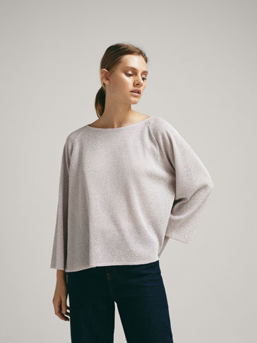 Cape Sweater With Back Opening by Massimo Dutti