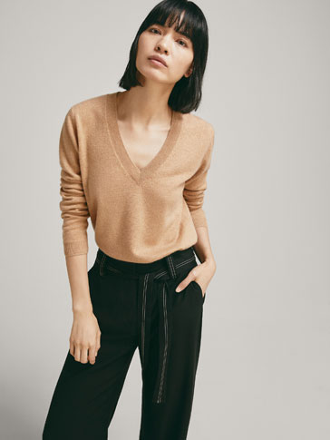 Plain 100 Percents Cashmere Sweater by Massimo Dutti