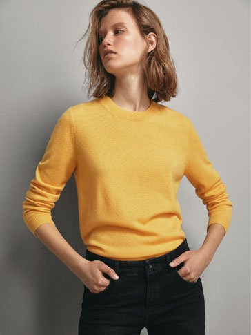 Sweater 100 Percents Caxemira Lisa by Massimo Dutti