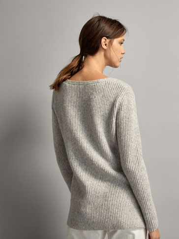 PURL KNIT WOOL SWEATER