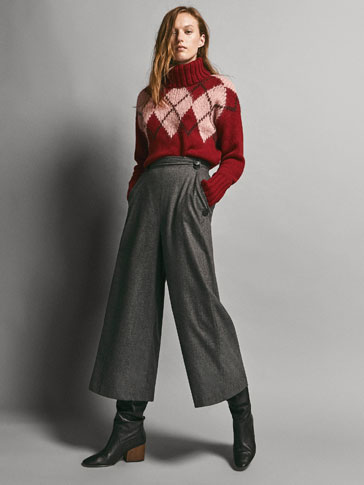 LIMITED EDITION CULOTTE FIT FLANNEL WOOL TROUSERS