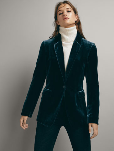 SLIM FIT VELVET BLAZER