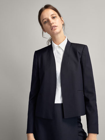 PLAIN WOOL JACKET
