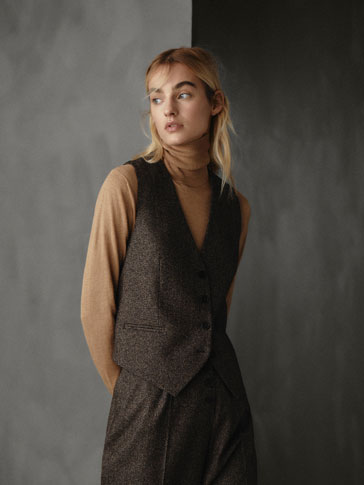 VESTĂ SLIM FIT DIN LÂNĂ HERRINGBONE WINTER CAPSULE