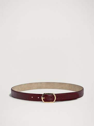 MOCK CROC LEATHER BELT