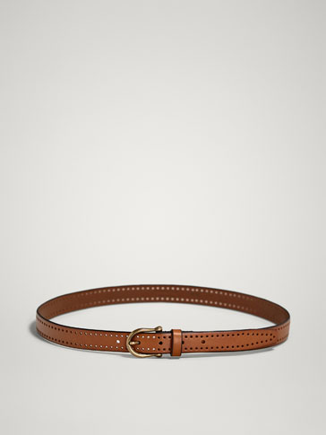 DIE-CUT LEATHER BELT