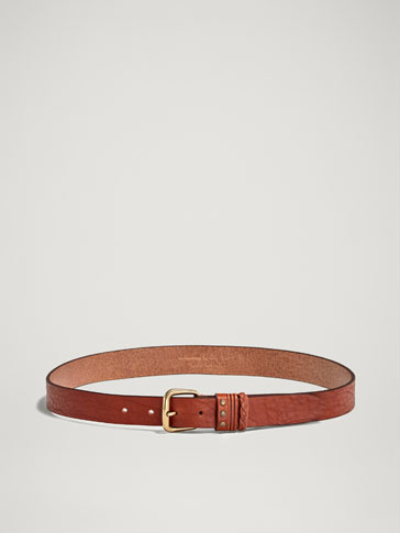LEATHER BELT WITH BELT LOOPS