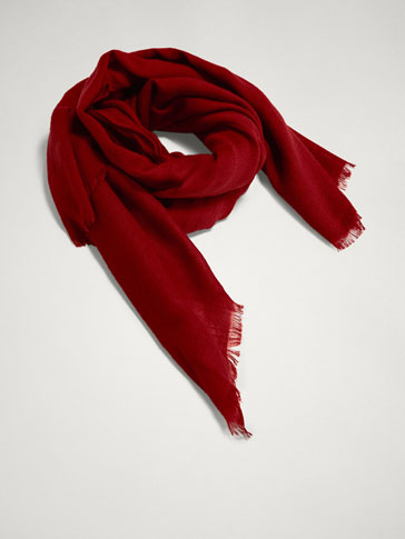 PLAIN 100% WOOL SCARF