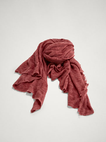 100% CASHMERE KNIT SCARF