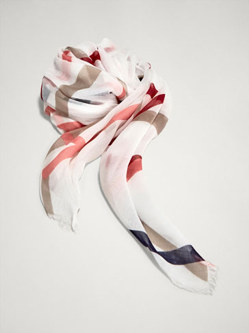 FOULARD A RIGHE INCROCIATE