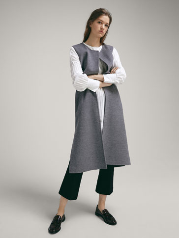 WOOL WAISTCOAT WITH VENTS