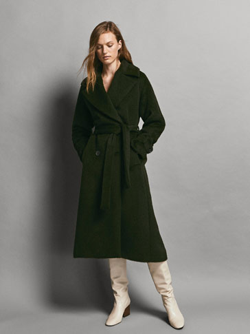 LIMITED EDITION DOUBLE-BREASTED ALPACA/WOOL COAT