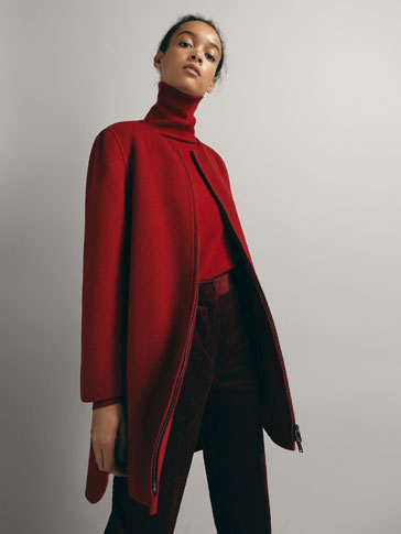 WOOL CAPE COAT WITH VENTS