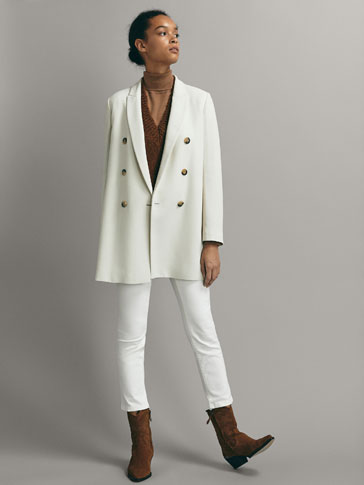 TEXTURED DOUBLE-BREASTED FROCK COAT