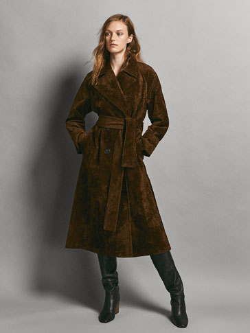 LIMITED EDITION COTTON CORDUROY TRENCH COAT