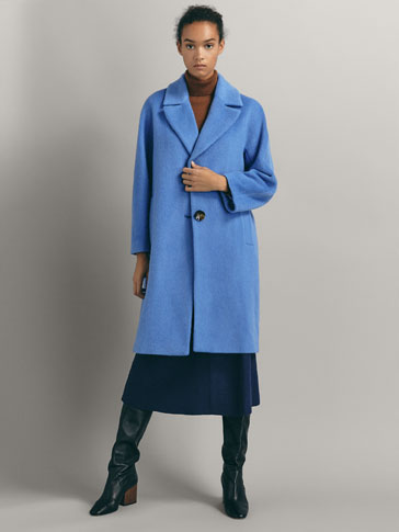 WOOL COAT WITH TEXTURED WEAVE