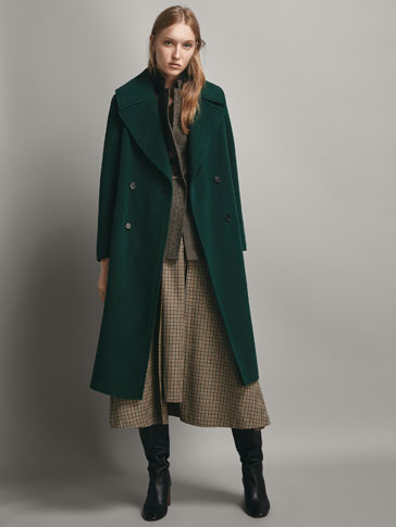 WOOL COAT WITH BELT DETAIL