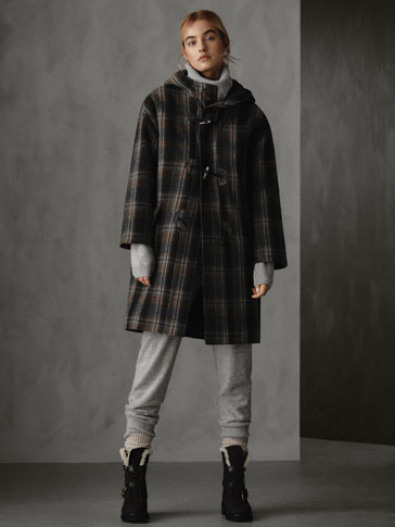 WINTER CAPSULE QUILTED 100% WOOL CHECK PARKA