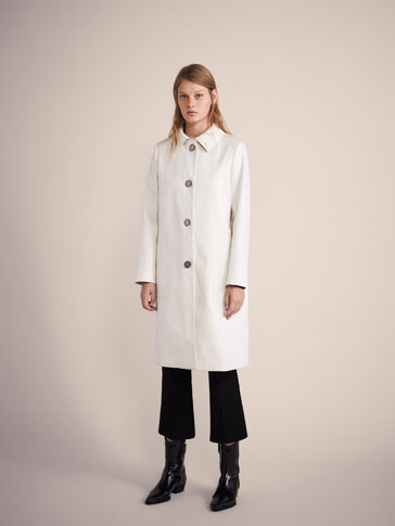 PLAIN COTTON COAT