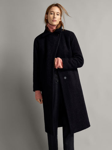WINTER CAPSULE TEXTURED BOUCLÉ WOOL COAT