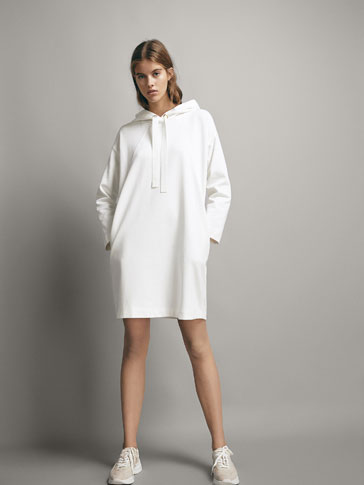COTTON SWEATSHIRT-STYLE DRESS