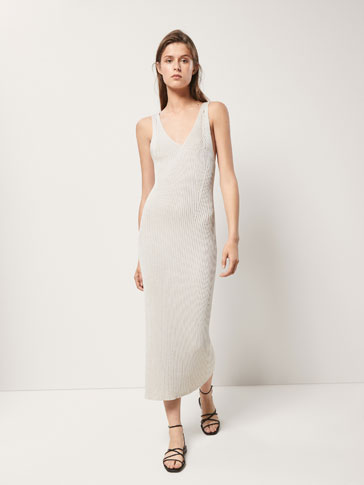 KNIT DRESS WITH DOUBLE STRAPS