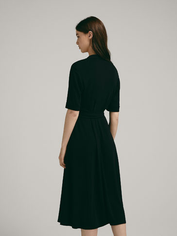 SHIRTDRESS MET OVERSLAG