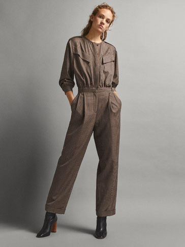 LIMITED EDITION CHECK WOOL JUMPSUIT