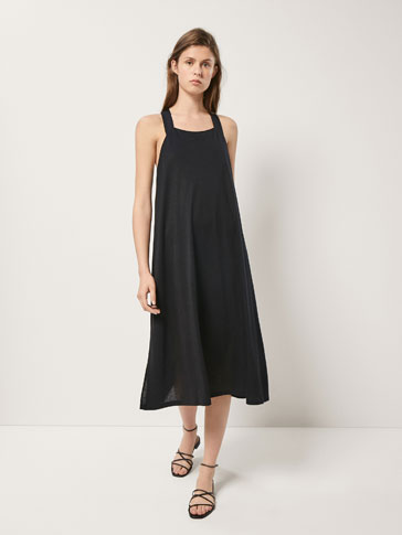 Lyocell Dress With Slits by Massimo Dutti