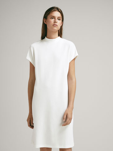 Textured Weave Dress by Massimo Dutti
