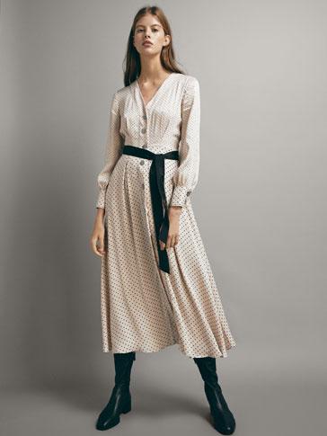 Mit Schleife Massimo by Und Tupfenprint ShoptagrKleid Dutti 0X8wOkPNnZ