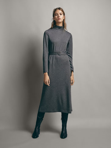 LYOCELL DRESS WITH BELT