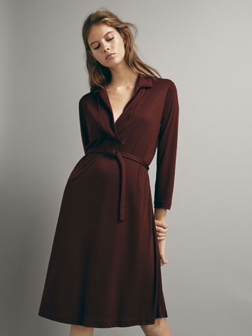 BELTED LYOCELL DRESS