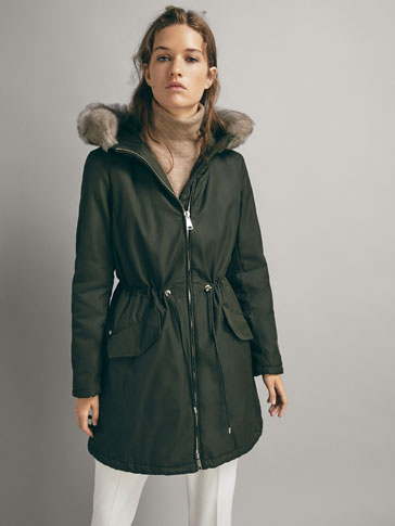 Contrast Parka by Massimo Dutti
