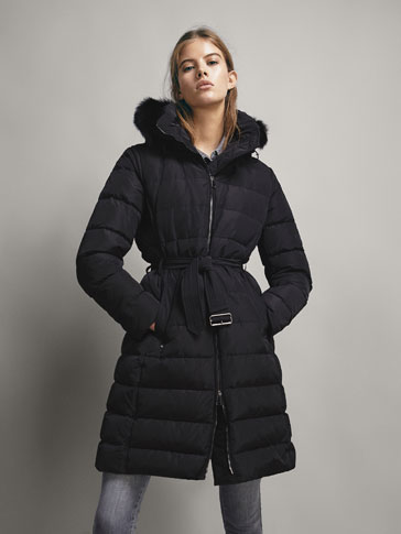 LONG DOWN JACKET WITH BELT