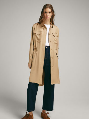 FLOWING PARKA WITH POCKETS