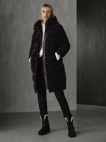 WINTER CAPSULE LONG VELVET DOWN JACKET
