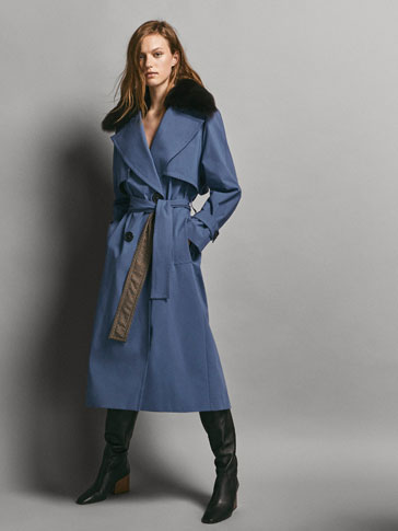 LIMITED EDITION REVERSE CHECK PRINT WOOL TRENCH COAT