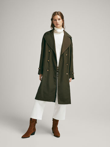 TECHNICAL COTTON TRENCH COAT