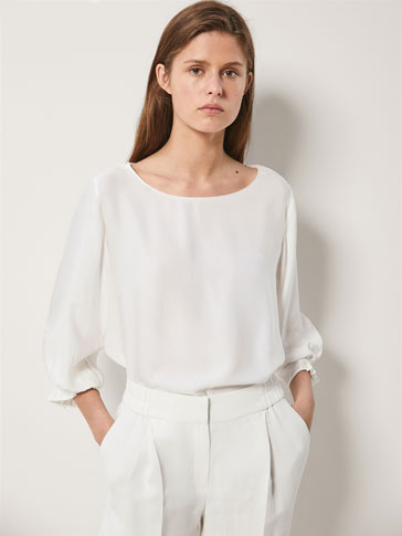PLEATED DETAIL T-SHIRT